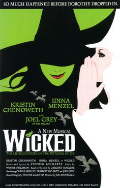 WICKED - The Broadway Show with the inimitable Kristin Chenoweth & Idina Menzel. #art #theatre #Broadway #Wicked #classic #reborn
