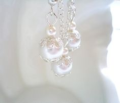 Bridesmaid Gift Set White Pearl Pendant and by NataliStudio, $5.00