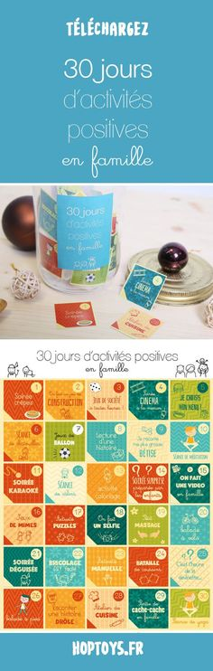 Je télécharge «30 jours d'activités positives à faire en famille»Voilà une chouette idée pour occuper vos loulous pendant cette période de fêtes : 30 idées d'activités positives à faire en famille !