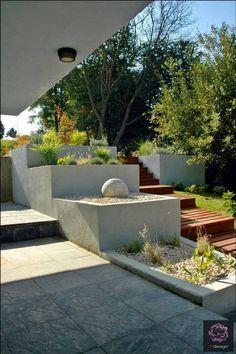 Modern garden about homes garden Modern Landscaping, Garden Landscaping, Balcony Design, Garden Design, Patio, Backyard, Landscape Architecture, Landscape Design, Garden Pool
