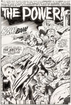 Jack Kirby and Mike Royer Forever People Splash Page 2 Original Art (DC, Bold Kirby lines and - Available at 2017 May 18 - 20 Comics & Comic. Comic Book Panels, Comic Book Covers, Dc Comics Art, Fun Comics, Marvel Comics, Best Comic Books, Comic Books Art, Comic Book Artists, Comic Artist