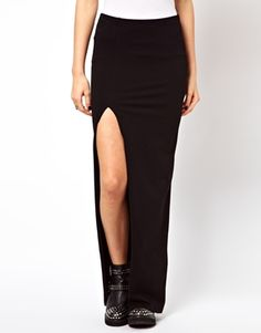CLOSET // ASOS Maxi Skirt with Thigh High Split