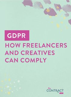 Does the GDPR apply to freelancers and creative entrepreneurs? Business Advice, Business Entrepreneur, Online Business, Entrepreneur Ideas, Content Marketing, Online Marketing, Branding, Blogging For Beginners, Blogging Ideas
