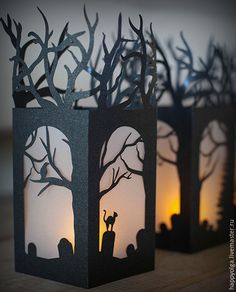 Купить Бумажный фонарик - черный, фонарь, бумажный декор, ВЕЧЕРИНКА, вырезанная вручную, фонарики, для фотосессий