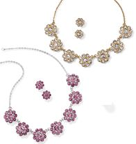 Sparkling Flowers Statements Necklace and Earring Gift Set--www.youravon.com/klorde Available until 4/7