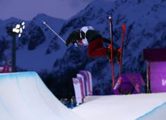 DAY 14:  Nina Ragettli of Switzerland competes during the Freestyle Skiing Women's Ski Halfpipe http://sports.yahoo.com/olympics