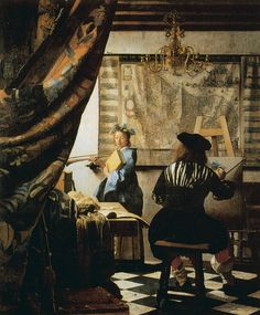 L'atelier de Jan Vermeer, remarquable par la qualité du traitement de la lumière.