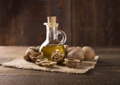 walnuts and walnut oil by peterzsuzsa on Creative Market