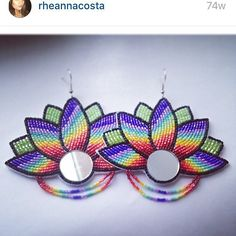 "206 Likes, 22 Comments - Rheanna Costa (@rheannacosta) on Instagram: ""Throwback  wondering if I should make more  #beadwork #beadedearrings"""