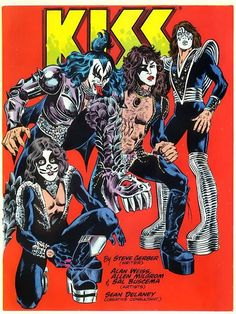 Kiss's 1977 special edition Marvel comic. They said that drops of the band's own blood had been mixed in with the ink