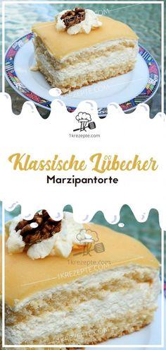 Desserts Recipes Classic Lübeck marzipan cake - Page 2 of 2 Cake Simple, New Dessert Recipe, Marzipan Cake, Cake Recipes, Dessert Recipes, Cake & Co, Grilling Recipes, Food Cakes, Vanilla Cake