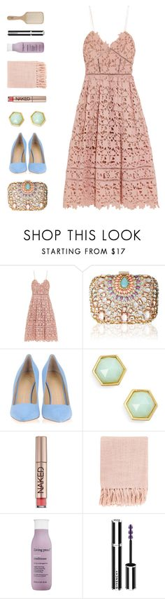 """""""have yourself a merry little christmas"""" by ouchm4rvel ❤ liked on Polyvore featuring self-portrait, Lipsy, Giuseppe Zanotti, Trina Turk, Urban Decay, Surya, Living Proof, Givenchy and Philip Kingsley"""