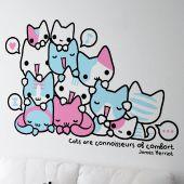 Adesivo decorativo Cats are connoisseurs of comfort