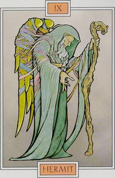 IX. The Hermit - Winged Spirit Tarot by David Sexton