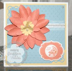 Stampin' Up! Blossom Petals Punch flower card