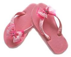 how to~ribbon trimmed flip flops