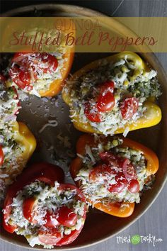 Quinoa Stuffed Bell Peppers | Tried and Tasty.