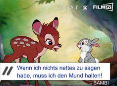 #Bambi ist ein echter #Disney Klassiker! Hier die besten Szenen sehen: ➠ https://www.film.tv/film/11/bambi-film-kino-trailer-18517.html  #filmzitat