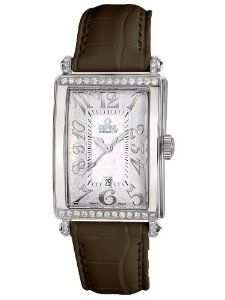 Gevril Women's 7249NT.5B White Mother-of-Pearl Genuine Alligator Strap Watch