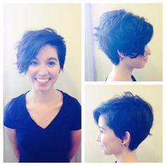 Asymmetric cut, summer cut, short hair, short funky hair, before and after