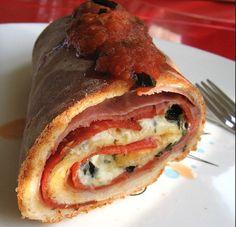 Stromboli 1/2 lbs salami 1/2 lbs Virginia Ham 1lbs Mozzarella Frozen Bread Dough Marinera