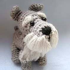Schnauzer amigurumi crochet pattern by Cute and Kaboodle