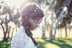 Historical Wedding Inspiration-- Beautiful idea for my hair.