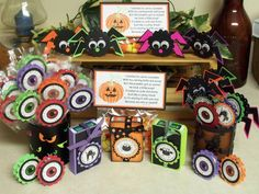 ^'^ Halloween Treats ^'^ by SassiAngel - Cards and Paper Crafts at Splitcoaststampers. Check out that eyeball tin~
