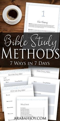 Do you want to study God's Word and allow His truths to marinate deep inside your heart but have no idea where to begin or how to do it, this is the resource for you! Learn 7 different ways to study the Bible that ARE NOT complicated, time consuming or require lots of thick books. Perfect for busy mamas with not a lot of free time!