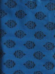 2 yard  india Cotton Fabric/Natural Vegetable Dyes for Dresses,Curtain Blue and Black Jaipur Hand block Sanganeri Printed