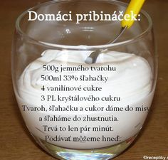 "How to make home-made ""Pribinacek"" / Recept na domaci ""Pribinacek"" - Czechmatediary Slovak Recipes, Czech Recipes, Sicilian Recipes, Sicilian Food, Czech Desserts, Sweet Desserts, Yogurt Recipes, Baby Food Recipes, Dessert Recipes"