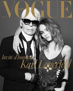 Enter the world of Karl. One of the most emblematic figures in fashion guest-edits our Christmas issue, out December 5. Karl Lagerfeld, with Lily-Rose Depp styled by Emmanuelle Alt, photographed by Hedi Slimane. #KarlLagerfeldxVogue #KarlLagerfeld #LilyRoseDepp #EmmanuelleAlt #HediSlimane #LuciaPica #SamMcKnight #Chanel @chanelofficial @lilyrose_depp @emmanuellealt @luciapicaofficial @sammcknight1