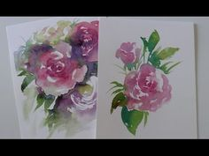 Watercolour Tutorial: How to paint a Rose wet on dry by ART Tv