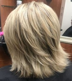 May 2020 - Thick Feathered Blonde Lob Medium shaggy hairstyles come in all shapes and sizes, including the classic lob that looks even hotter with feathered ends. Short layers give the crown body, while thinning out the bottom brings a breezy cool feel. Medium Shaggy Hairstyles, Layered Bob Hairstyles, Long Bob Hairstyles, Haircut Medium, Medium Layered Haircuts, Casual Hairstyles, Braided Hairstyles, Wedding Hairstyles, Bob Style Haircuts