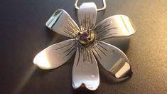 Narcissus flower Sterling Silver 9.25 jewelry pendant - pendente a forma di narciso