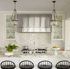 Great post about kitchen hoods by Phoebe Howard!  kitchen by Phoebe Howard