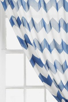 I've been looking for curtains for my room, and this one would be perfect - it matches my bedding Zigzag Curtain #UrbanOutfitters #smallspace