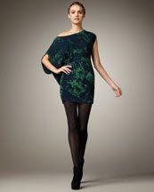 marble-print dress
