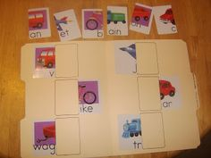 Little Family Fun: File Folder Games: Things of Wheels Matching