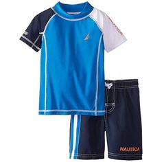 Nautica Baby-Boys Infant Colorblock Rashguard Swim Set, El Blue Spell, 24 Months  Freshest Fishing Clothing And Gear On The Web!