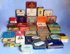 Tabak:verzameling van 40 blikken doosjes - diverse jaren