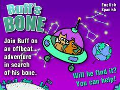 Ruff's Bone - interactive storybook in English and Spanish.