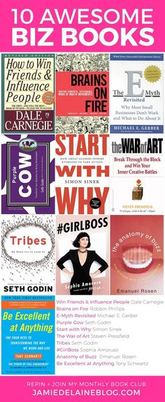 10 Awesome Biz Books By Jamie Delaine Watson Ht Reading Lists, Book Lists, Illinois, Leadership, Entrepreneur Books, Life Changing Books, Inspirational Books, Photography Business, Photography Jobs
