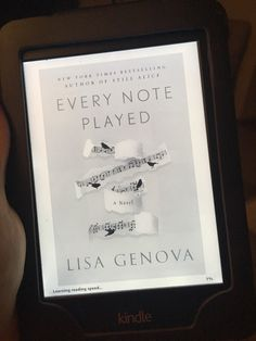 Sarah Anne's Book Review: Every Note Played by Lisa Genova
