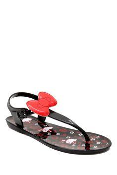 Hello Kitty sandals so cute! Hello Kitty House, Here Kitty Kitty, Jelly Sandals, Flip Flop Sandals, Flip Flops, Bow Sandals, Summer Sandals, Sanrio, Hello Kitty Collection