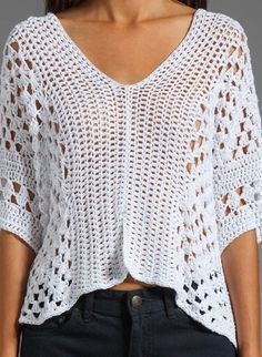 Crochet tunic PATTERN, designer crochet tunic pattern, boho crochet top Perfect crochet pattern for making a designer boho tunic. Comes with detailed do-it-yourself PDF instructions and charts. Blouse Au Crochet, Poncho Crochet, Crochet Tunic Pattern, Pull Crochet, Mode Crochet, Black Crochet Dress, Easy Crochet, Crochet Lace, Crochet Stitches