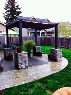 Hampton Bay 9 1 2 Ft X 9 1 2 Ft Metal Pergola With