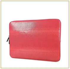 """HOT Designer Top Rated Quality Snake Skin Leather Laptop Tablet Notebook Cover Carrying Case 10,12,13, 14,15,15.6"""" - 4 Colors"""
