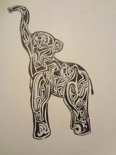Tribal Elephant Triabl elephant tattoo design Tribal Elephant, Elephant Tattoo Design, Tattoo Designs, Crafting, Tattoos, Ideas, Tatuajes, Tattoo, Crafts To Make