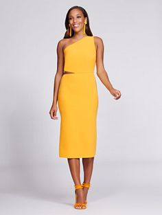 Gabrielle Union Collection - One-Shoulder Sheath Dress - Mango. Gabrielle  UnionMangoNew YorkSheath DressesShopStyleCollectionSleeveSwag